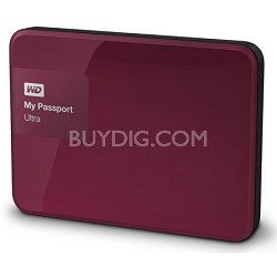 My Passport Ultra 2TB Portable External Hard Drive USB 3.0 Berry (WDBBKD0020BBY)