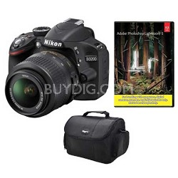 D3200 Digital SLR Camera w/ 18-55mm VR Lens Bundle Deal with Adobe Lightroom 5