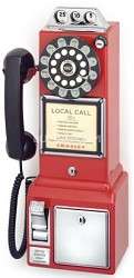1950's Style Nostalgia Pay Phone - CR56-RE (Red)