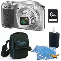 COOLPIX L610 16MP 3.0-inch LCD Silver Digital Camera Kit