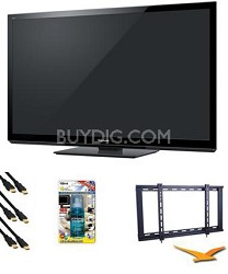 TC-P55GT30 55 inch VIERA 3D FULL HD (1080p) Plasma TV Value Bundle