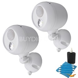 MB330 Wireless LED Spotlight with Motion Sensor  2-Pack - White