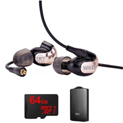 W60 Premium In-Ear Monitor - 78507 w/ FiiO A3 Amp Bundle