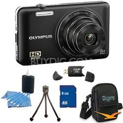 8 GB Kit VG160K 14MP 5x Opt Zoom Black Digital Camera - Black