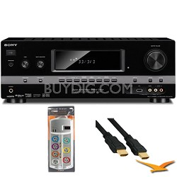 7.1 Channel 3D Surround Sound AV Receiver (STRDH720) with HookUp Bundle