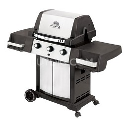 Liquid Propane Gas Grill, Stainless Steel/Black Signet 20 - 986554