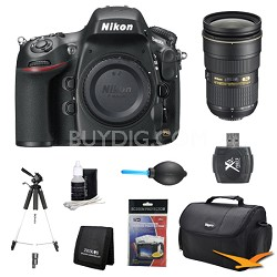 D800E 36.3 MP CMOS FX-Format Digital SLR Camera Body 24-70mm Lens Kit