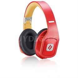 Hammo Over Ear Stereo Hi-Fi Stereo Headphones (Red) - OPEN BOX