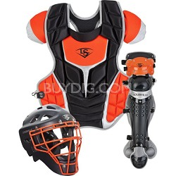 Adult PG Series 7 Catchers Set - Black/Orange