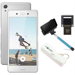 "Xperia X 32GB 5"" Smartphone Unlocked Mobile Selfie Bundle - White"