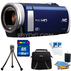 "GZ-EX210AUS HD Everio Camcorder f1.8 40x Zoom 3"" Touchscreen WiFi w/ 16GB Bundle"