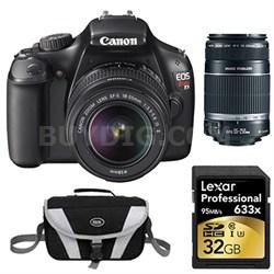 EOS Rebel T3 SLR Digital Camera w/ 18-55mm & 55-250mm Instant Rebate Bundle