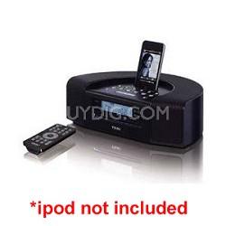 SR-L250iB Hi-Fi Table Radio with iPod Dock/CD/USB (Black) - OPEN BOX