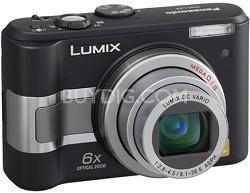 DMC-LZ5K (Black) Lumix 6-Megapixel Compact Digital Camera w/ 6x Optical Zoom
