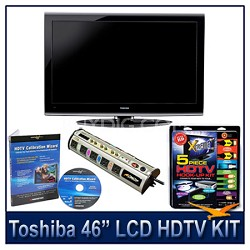 "46G300U 46"" 1080p LCD HDTV + Hook-Up + Power Protection + Calibration DVD"