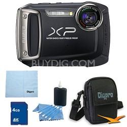 Finepix XP100 14MP CMOS Digital Camera 4 GB Bundle (Black)