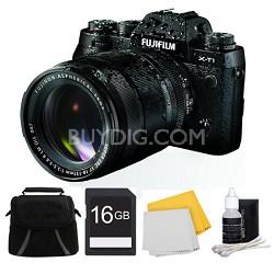 X-T1 Black Mirrorless Digital Camera with XF18-135mm Lens 16GB Bundle