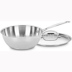Chef's Classic Stainless 3-Quart Chef's Pan with Cover (735-24)