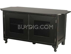 "BFV348 - A/V Stand for TVs up to 50"" - Distressed Black Finish"