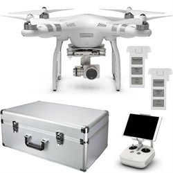 Phantom 3 Advanced Quadcopter Drone Bundle +Extra Battery & Custom Aluminum Case