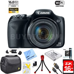 PowerShot SX530 HS 16MP 50x Opt Zoom 1080p Full HD Digital Camera Bundle (Black)
