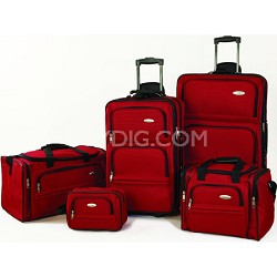 5 Piece Nested Luggage Set (Red)