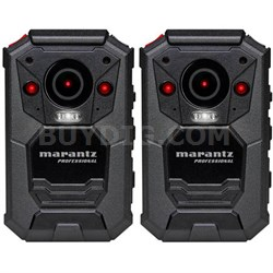 2-Pack Professional Grade Bodycam Wearable Body Video Camera w/ GPS (PMD-901V)