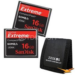 16GB Extreme CompactFlash Double Memory Card Bundle