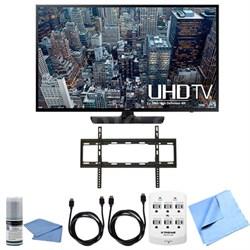UN65JU6400 - 65-Inch 4K Ultra HD Smart LED HDTV Flat Mount Bundle