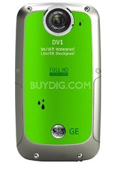 Active DV-1 LG Waterproof/Shockproof 1080P Pocket Video Camera Lime Green