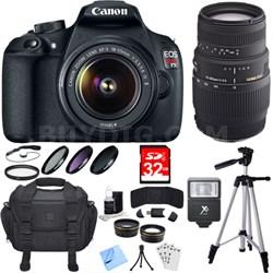 EOS Rebel T5 18MP Digital SLR Camera 18-55mm & 70-300mm Lens 16gb 18pc Kit