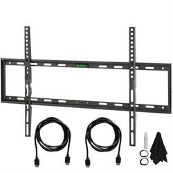 Slim Flat Wall Mount Ultimate Bundle Kit for 32-60 inch TVs