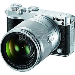 1 J5 Digital Camera w/ NIKKOR 10-100mm f/4.0-5.6 VR Lens - Silver