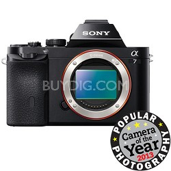 a7 Full-Frame Interchangeable Lens Black Digital Camera
