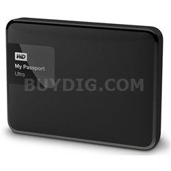 My Passport Ultra 1 TB Portable External Hard Drive, Black - OPEN BOX