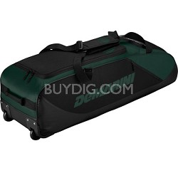 D-Team Wheeled Bat Bag, Dark Green