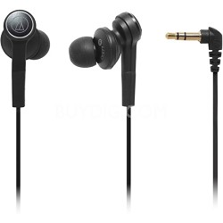 ATHCKS77BK Solid Bass In-Ear Headphones