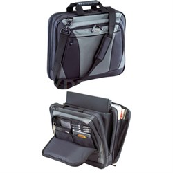 "16"" CityLite Topload Laptop Case in Black and Gray - TBT050US"