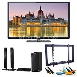 "55"" TC-P55ST50 VIERA 3D HD (1080p) Plasma TV with Built-in Wifi Speaker Bundle"
