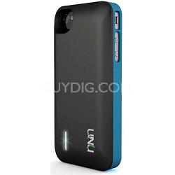 Exera Modular Detachable Battery Case for iPhone 4S 4 - Blue/Black