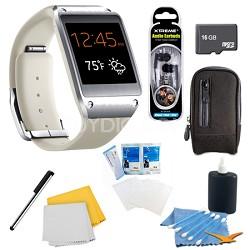 Oatmeal Beige Galaxy Gear Smartwatch Memory Bundle