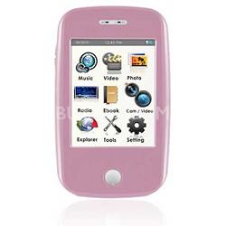 "E6 Series - 4GB MP3 Video Player w/ 3"" Touchscreen, Camera w/ Video - Pink"