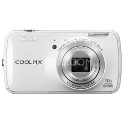 S800c 16 MP Digital Camera with 10x Optical Zoom - White - Factory Refurbished