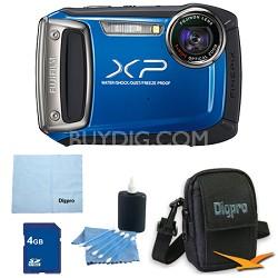 Finepix XP100 14MP CMOS Digital Camera 4 GB Bundle (Blue)