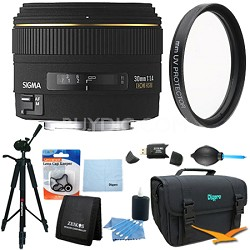 30mm f/1.4 EX DC HSM Autofocus Lens for Nikon DSLR Cameras - Lens Kit Bundle