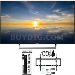 """XBR-43X800D - 43"""" Class 4K HDR Ultra HD TV w/ Tilt Wall Mount Bundle"""