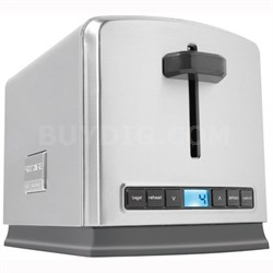 Professional 2-Slice Wide Slots Toaster - FPTT02D7MS - OPEN BOX