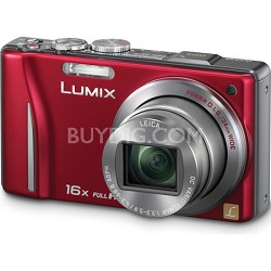 Lumix DMC-ZS10 14.1 MP Red Camera w/16x Zoom & GPS