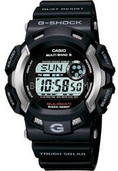 GW9100-1 - Men's G-Shock Gulfman Atomic Solar Multi-Band Watch - Black Resin