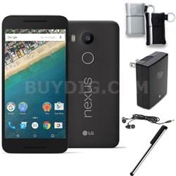 H790 Google Nexus 5X 16GB Unlocked Smartphone Carbon Black Bundle